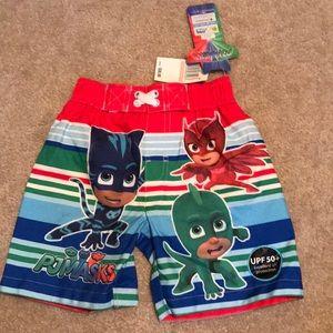 Toddler Boys Pj Masks Swim Shorts size 2T